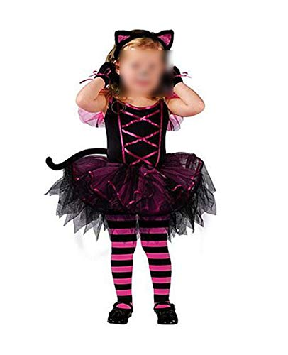 Halloween Costumes for Baby Tutu Dress Headdress Cat Prom Animal CApparel,a,6T,maonv]()