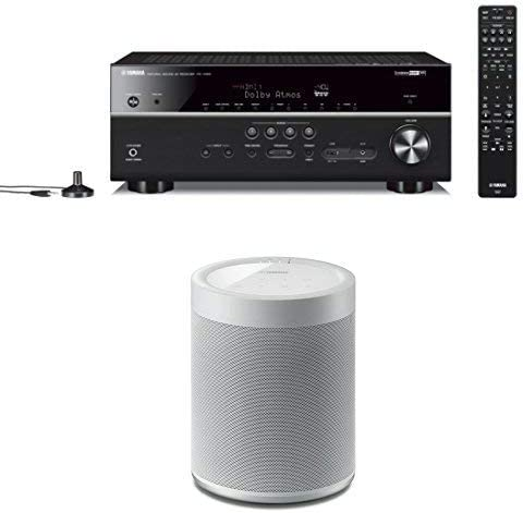 Yamaha RX-V685BL 7.2-Channel 4K Ultra HD AV Receiver with Wi-Fi Bluetooth and Wireless Speaker. Works with Alexa