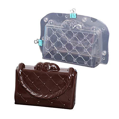 (3D Cake Lady Handbag Chocolate Mold Plastic Polycarbonate Lady's Bag Jelly Candy Making Mold (Lady's)