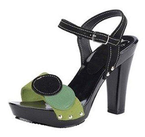 Best Connections Womens Sandalette Hi-Top Slippers Black - Black