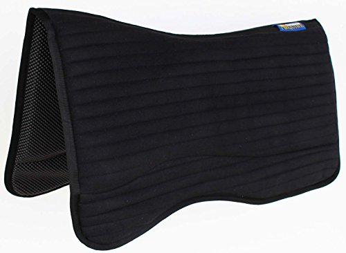 Horse Western Saddle PAD Barrel Non-Slip Neoprene Tacky Tack Bottom Black 39155