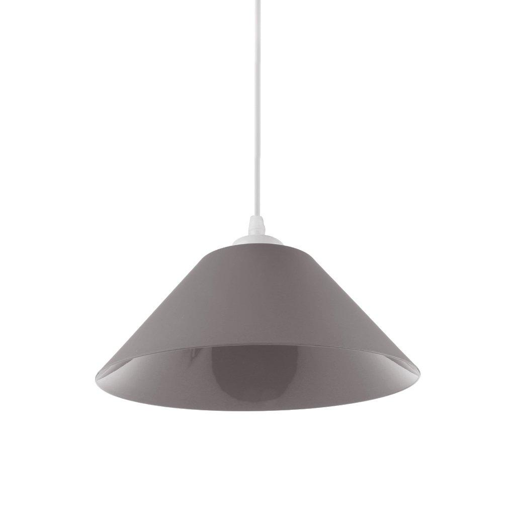 Gazechimp Sombra Ligera Pendiente de Lámpara de Techo Diseño con Cono Accesorio de Bombillas de Comedor de Sala de Estar de Casa - Amarillo