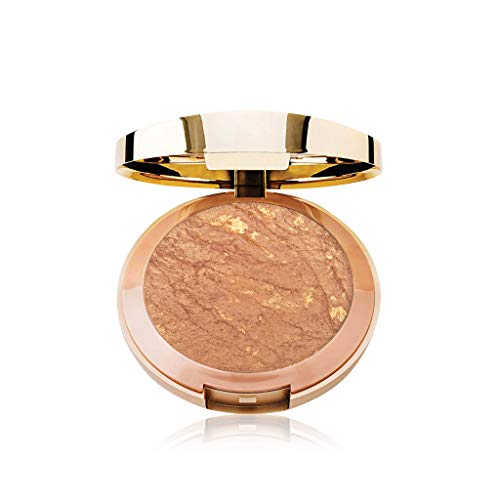 (Milani Baked Bronzer - Dolce (0.25 Ounce) Cruelty-Free Shimmer Bronzing Powder to Shape, Contour & Highlight Face)