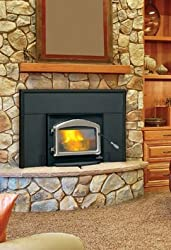 Napoleon EPI-1101M Oakdale Deluxe EPA Certified Wood Fireplace Insert Up to 55 000 BTUs complete with Heat Circulating Blower in Metallic by Napoleon