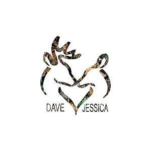 Deer Couple Camo/ Add Your Personalized Text
