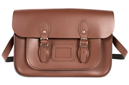 Oxbridge Satchel's, Borsa a secchiello donna marrone
