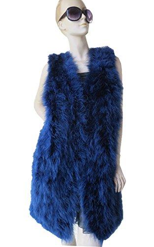Manteau cm sans en Gilet plumes pour femme Size 104 Bust naturelles manches PawqqZdR