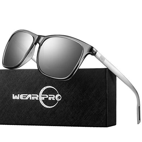 Sunglasses for Men Polarized Vintage Men`s Sun Glasses WP1003 (Silver)