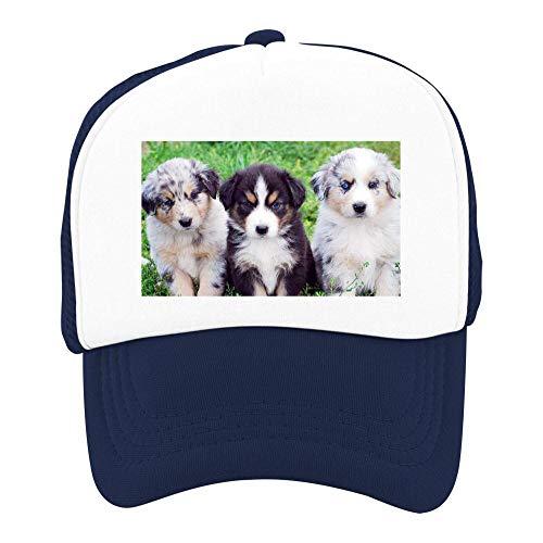 EThomasine Kids Girls Boys Mesh Cap Trucker Hats Australian Shepherd Adjustable Hat Navy by EThomasine