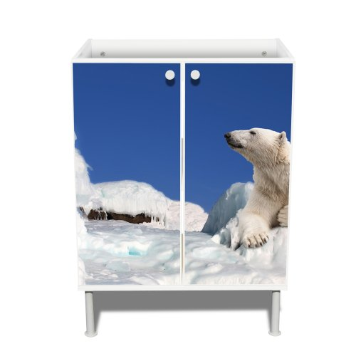 Modern Under-Sink Cabinet with Design: with Polar Bear Motif: Amazon ...