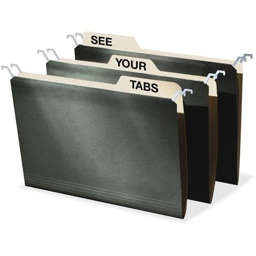 """FT07043 IdeaStream Tab View Hanging File Folders - Legal - 8.50"""" Width x 14"""" Length Sheet Size - 0.50"""" Expansion - 9 pt. - Manila, Stock - Standard Green - 20 / Pack"""
