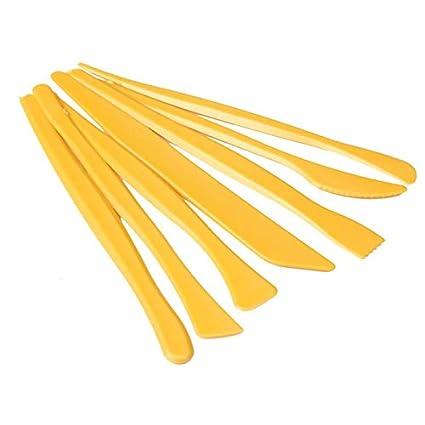 Amazon.com: Cuchillos – Juego de 7 cuchillos de plástico ...
