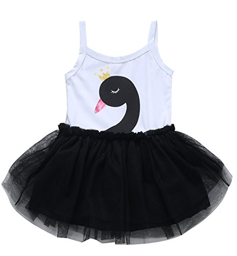 Little Fancy Baby Girls' Swan Tutu Dress Romper (6-12 Months, (Funny Fancy Dress Outfits)