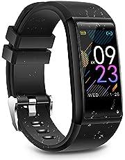Smartklocka fitnessmätare, vattentät sportklocka aktivitetsmätare smart armband med puls blodtryck sömnmätare stegräknare smart armband kompatibelt med iOS Android för män kvinnor