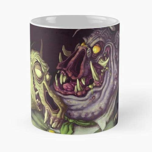 Amazon.com: Monster Monsters Ugly - Coffee Mugs Unique Ceramic Novelty Cup: Handmade