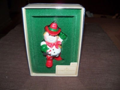 Cowboy Snowman 1982 Hallmark Ornament