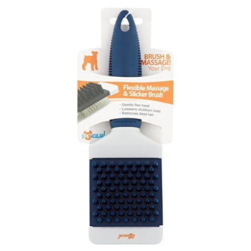 Pet Flexible Slicker and Massage Grooming in 1 Brush For Dogs and Cats By Spetacular