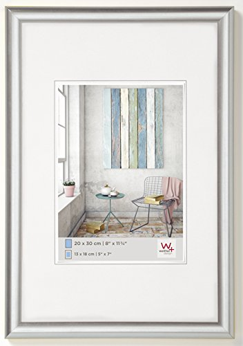 Walther design KP045S Trendstyle picture frame, 11.75 x 17.75 inch (30 x 45 cm), silver metallic