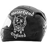 Rockhard Motorhead Motorizer Full Face Helmet (Black, X-Large)