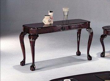 Click 2 Go 48''x16''x28''H Queen Ann Sofa Table Cherry Finish