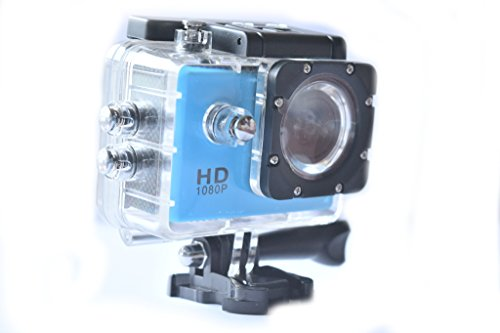 1.5 Inch Screen 1080p Sports Camera Waterproof to 30M and 1.5 Hour Battery Time