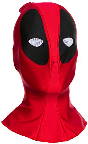 The Best Deadpool Costume - Marvel Men's Deadpool Adult Overhead Fabric Mask, Multi, One Size