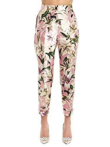 - Dolce e Gabbana Women's Ftbblths149hfkk8 Pink Silk Pants