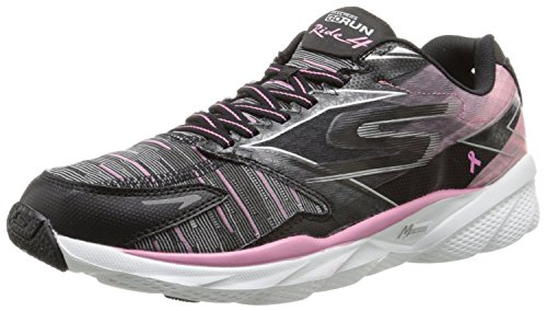 Skechers Performance Women's Go Run Ride 4 Resistance Running Shoe, Black/Pink, 11 M US