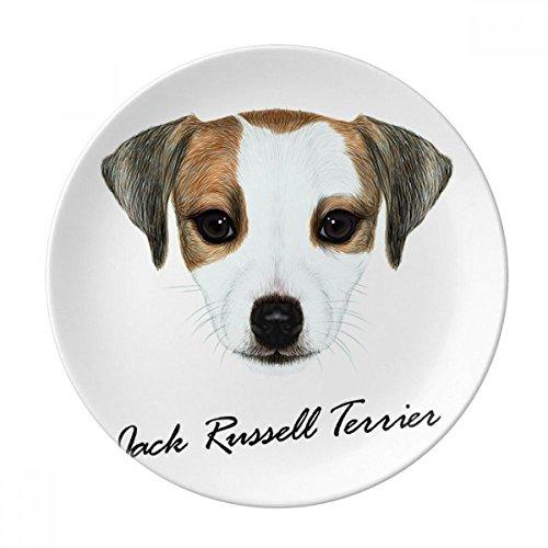 Jack Russell Terrier Dog Pet Animal Dessert Plate Decorative Porcelain 8 inch Dinner Home