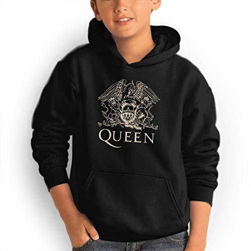 Teen Hoodies, Queen Band Logo Hooded Sweatshirt Cool Aesthetic Pullover Hoodie for Boys Girls Teens Black