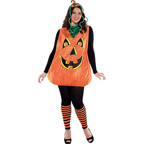 Suit Yourself Pretty Pumpkin Halloween Costume for Women, Plus Size, Includes Accessories