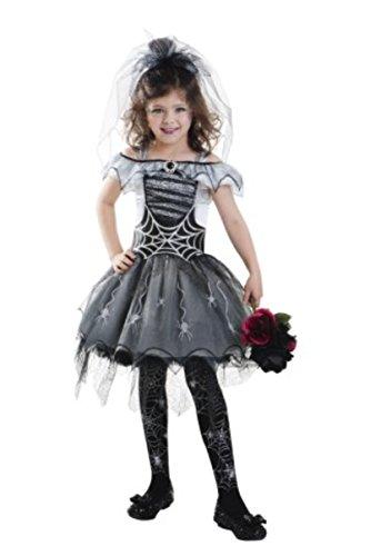 Goodmark Girls Gothic Spider Bride Costume Halloween Outfit, Small (Gothic Spider Bride Costume)