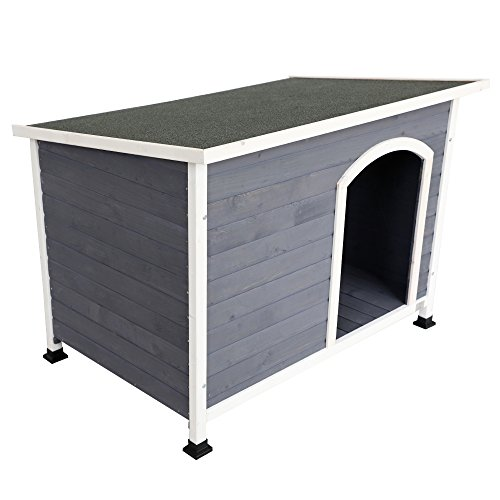 A4Pet Weather Protected Outdoor Dog House for Medium Dog Up to 60 lbs by A4Pet