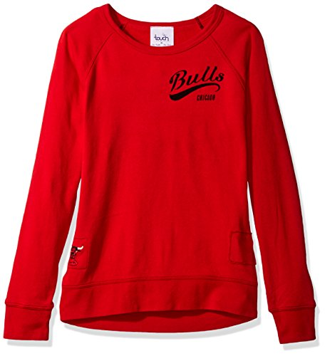 - Touch by Alyssa Milano NBA Chicago Bulls Women's Dugout Reversible Pullover Sweatshirt, Small, Red