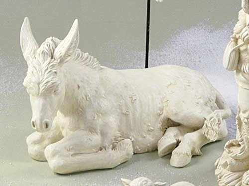 Outdoor Nativity Figurines - Roman Joseph's Studio Seated Donkey Outdoor Christmas Nativity Statue