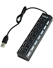 High Speed 7 Port Usb 2.0 Hub On/off Sharing Switch For Laptop Pc