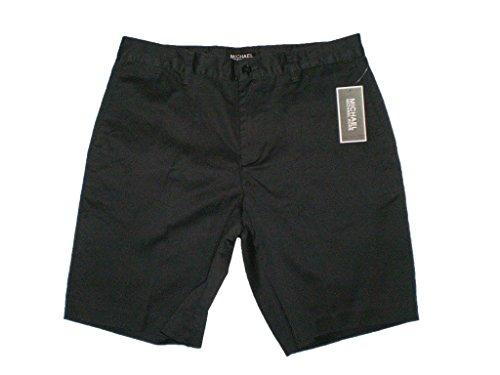 Michael Bermuda Kors (Michael Kors Men's Flat Front Cotton Washed Black Walking Shorts Size 30 New $90)