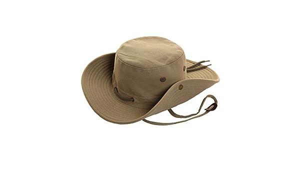 FELTON - Sombrero de safari tipo Fedora, 100% algodón, ala ancha, lona, protección solar beige verde X-Large: Amazon.es: Ropa y accesorios