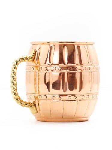 Old Dutch Nickel-Lined Solid Copper Barrel Mule Mug, 16 Oz.
