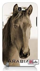Striking Arabian Horse Image Premium Samsung Galaxy S5, S 5 Quality PVC Hard Plastic Cell Case for Samsung Galaxy S5, S 5 - AT&T Sprint Verizon - White Case