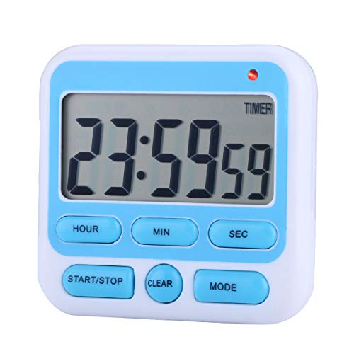 Zealforth Digital Kitchen Countdown Timer Clock 24 Hours Large Display Count Down Magnetic Timer with Alarm, ()