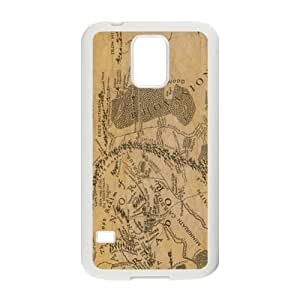 Brown Map New Style High Quality Comstom Protective case cover For Samsung Galaxy S5 by Maris's Diary