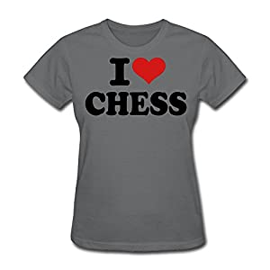 TAUYOP Women's I Love Chess T-shirts
