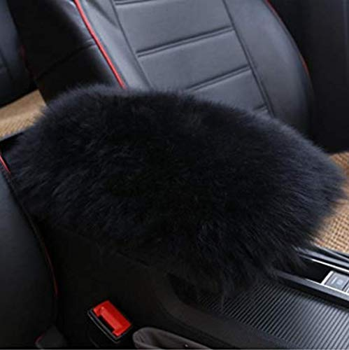 TRUE LINE Automotive Fluffy Soft Furry Car Center Console Armrest Elbow Cushion Comfort Pillow Pad ()