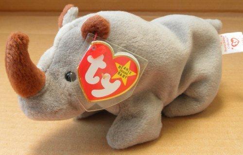 TY Beanie Babies Spike the Rhino Plush Toy Stuffed Animal by Unknown (Rino Plush)