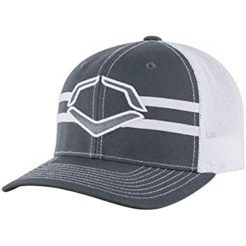 af70068f Wilson Sporting Goods Evoshield Grandstand Flexfit Hat, Charcoal/White,  Large/X-Large(7 3/8 - 7 5/8)