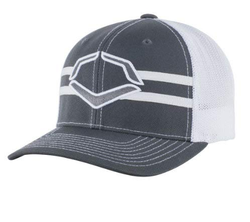 Wilson Sporting Goods Evoshield Grandstand Flexfit Hat, Charcoal/White, Small/Medium (7 -7 1/4) ()