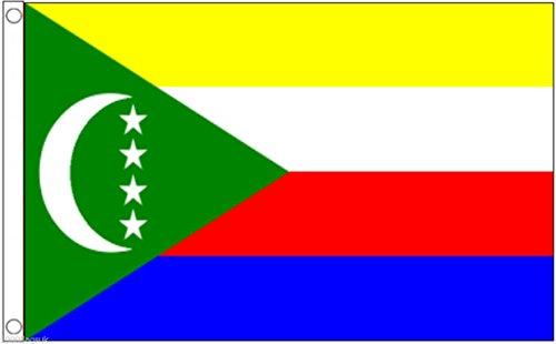 Comoros Flag 3'x2' (90cm x 60cm) - Woven Polyester