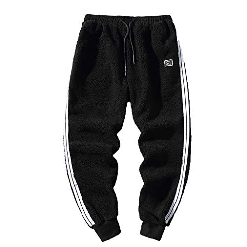 Mwzzpenpenpen Men's Fleece Warm Trousers Simple and Fashionable Solid Expandable Loose Lightweight Sport Pant