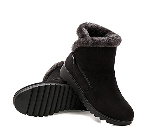 Black Snow Zipper Button Time Dear Boots Warm Women Winter 0Tnw1P